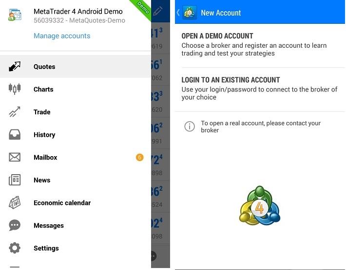 cara mudah trading forex lewat HP Android lewat Metatrader 4 aplikasi